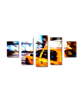Tableaux quadriptyque taxi new york