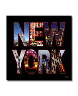 Tableau post card new york noir