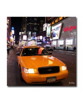 Tableau photo Taxi time square
