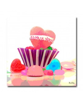 Tableau design bonbons I love you Coeur