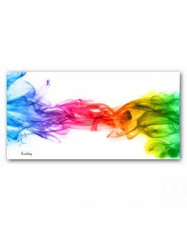 Tableau Plexiglass Abstrait Rainbow Smoke