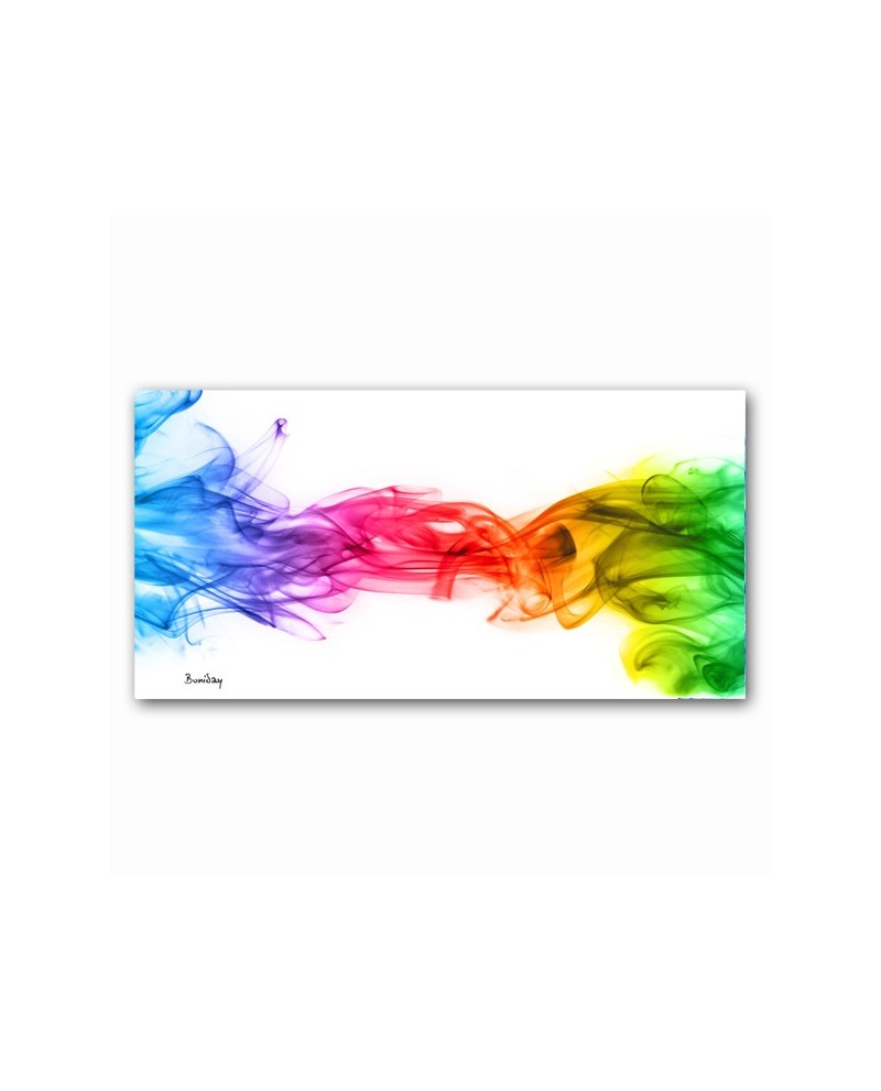 tableau plexiglass abstrait rainbow smoke boniday d co murale. Black Bedroom Furniture Sets. Home Design Ideas