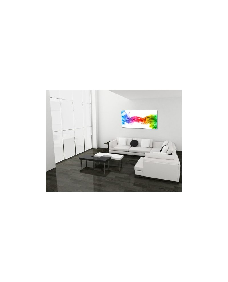 tableau plexiglass abstrait rainbow smoke boniday d co. Black Bedroom Furniture Sets. Home Design Ideas