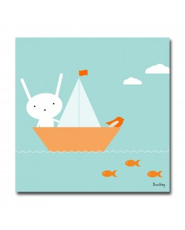 Tableau Deco Bird and Boat