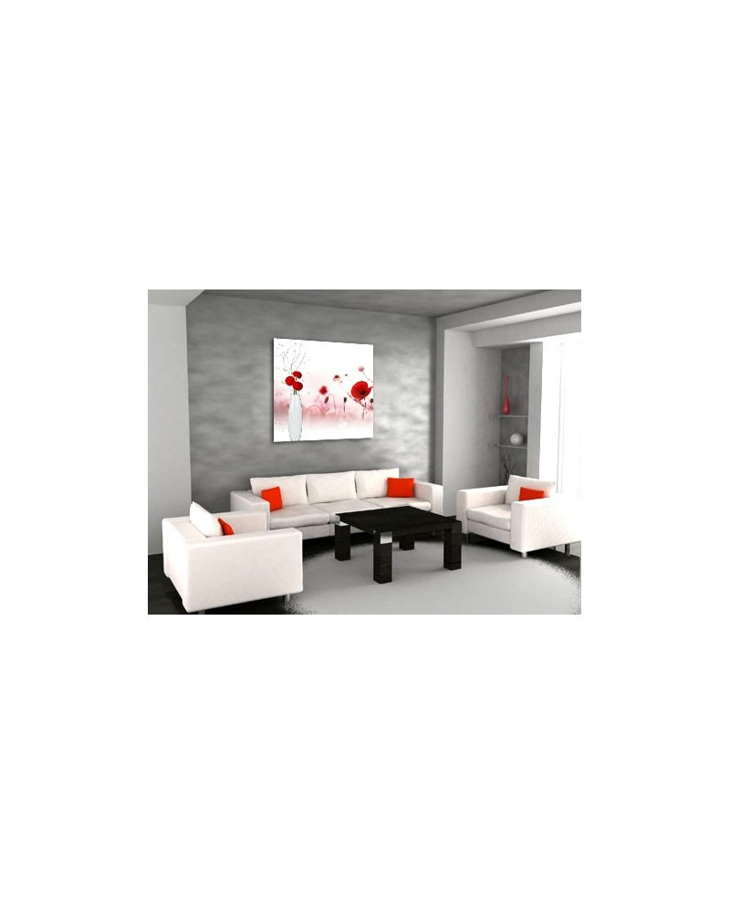 plexiglass vase rouge boniday plexiglass de d co murale. Black Bedroom Furniture Sets. Home Design Ideas