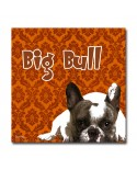 Tableau Chien big-bull orange