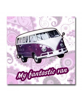 Tableau design vintage  My Pop Van
