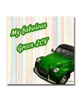 Tableau Photo Retro 2ch-Verte