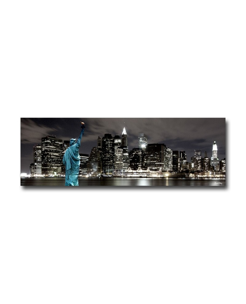 D coration murale de new york city by night boniday for Tableau plexiglass new york
