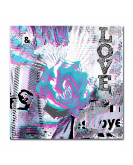 Plexiglass love bleu et rose