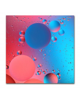 Tableau bulles rouges et bleues