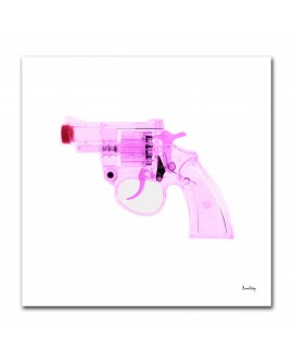 Tableau pistolet pétards rose