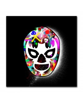 Plexiglass masque graffitis noir
