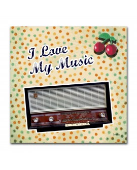 Tableau transistor i love my music