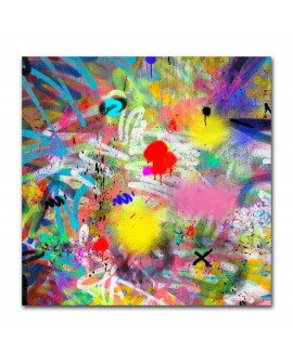 Tableau graffitis multicolor