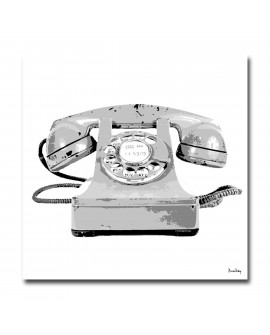 Tableau téléphone blanc