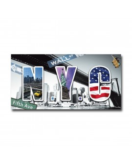 Tableau plexiglass Design New-York city