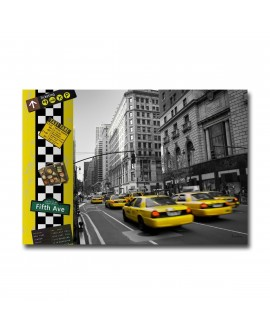 Tableau plexiglass Déco New York Yellow Cab