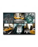 Tableau plexiglass Mosaique  New-York Moderne