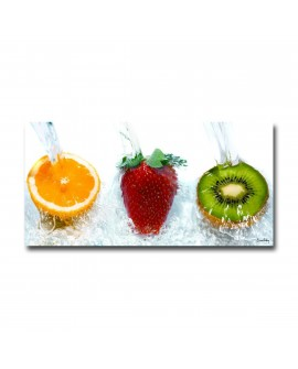 Tableau plexiglass Moderne Trio de Fruits