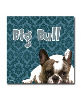 Plexiglass dog bull Bleu