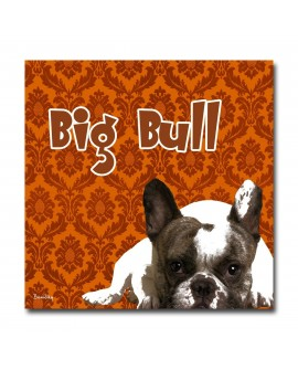 Plexiglass dog bull orange