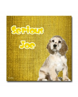 Plexiglass dog Joe Yellow