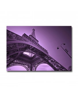 Plexiglass paris Eiffel purple