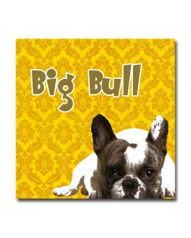 Plexiglass dog bull jaune