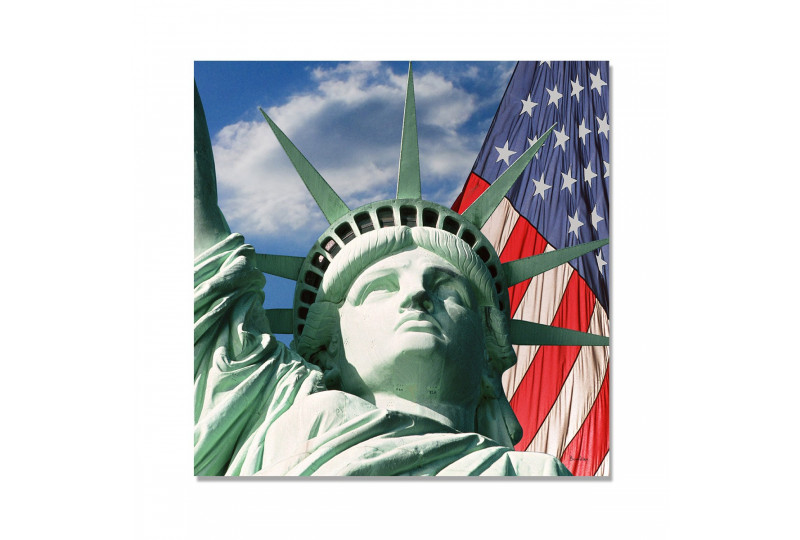 Tableau New York Freedom and Flag