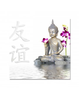 Tableau Photo Bouddha Blanc