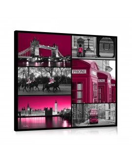 Tableau mosaique london pink