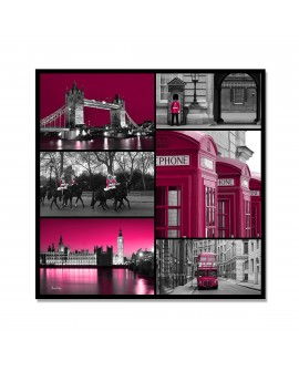 Plexiglass mosaique pink london