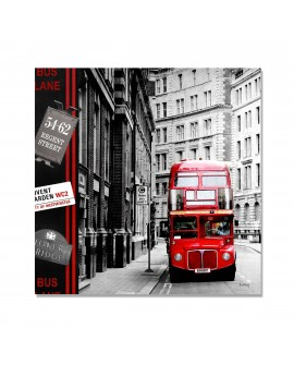 Tableau plexi Moderne London-Bus