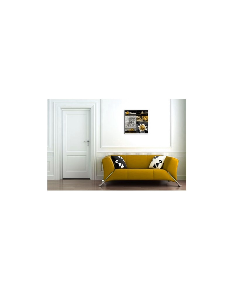 tableau p le m le zen jaune boniday. Black Bedroom Furniture Sets. Home Design Ideas