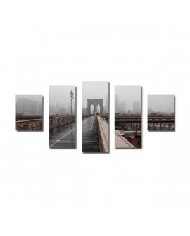 Tableaux Brooklyn bridge Brume